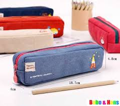 pencil bag new fashion simple st style canvas pencil bag wholesale in