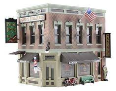 ho 1 87 built model building wood craftsman small garage gas