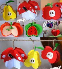 wonderful diy paper fruit ornaments