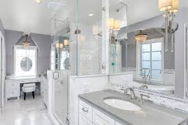 gray countertops with white cabinets broadmoor master bathroom remodel traditional bathroom phoenix