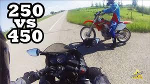motocross bike accessories ninja 250 vs 450 dirt bike race youtube