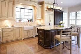 White Beadboard Kitchen Cabinets Country Kitchen Brown Wicker Storage Baskets Rustic Pendant