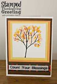 thanksgiving ribbon easy thanksgiving cards to make stamping ideas