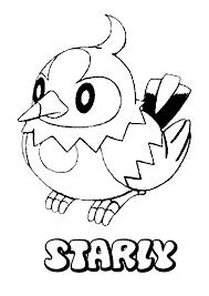 starly pokemon coloring pokemon coloring sheets