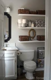 Bathroom White Shelves White The Toilet Storage Foter