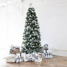 black and white buffalo check christmas tree for the holidays