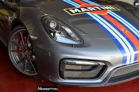 Porsche Cayman S 981 Gts 2015 3 Piece Set Matte Black Frames