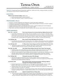 medical records clerk resume u2013 inssite