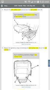 Honda Upholstery Fabric Removing And Replacing Front Oem Seat Fabric Honda Pilot Honda
