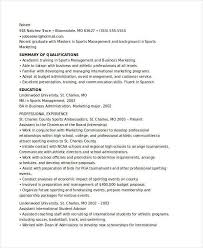 Administration Sample Resume by Download Sports Administration Sample Resume