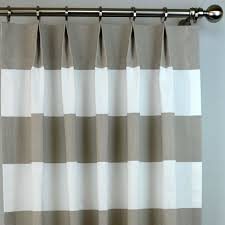 Striped Curtain Panels Horizontal Ecru Taupe Beige White Cabana Wide Horizontal Stripe Modern