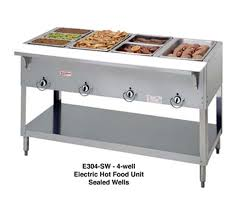 electric steam table countertop duke mfg e304sw aerohot steamtable 4 wells electric sealed wells