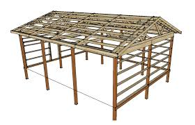 How To Build A Pole Barn Shed by Pole Barn Plans And Materials Redneck Diy