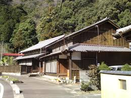 traditional japanese houses and inns in utsunoya shizuoka city