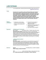 Resume For Teachers Example Modern Decoration Resume Templates Teachers Classy Inspiration