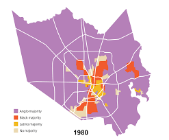 map houston harris county map see how houston s demographics changed since 1980