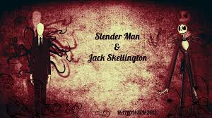 jack skeleton halloween slender man and jack skellington halloween 2012 by
