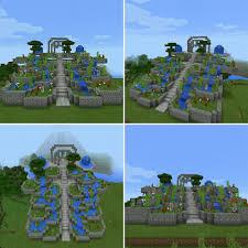 parque jardin minecraft garden park mimecraft mcpe