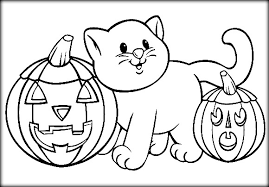 nice design halloween coloring pages cats free printable