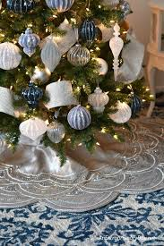 how to decorate a stunning blue and silver tree an