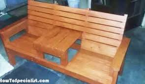 diy wood outdoor sofa howtospecialist how to build step by
