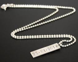 personalized dog tag necklace silver dog tag etsy