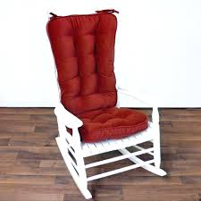 rocking chair with cushions image of red outdoor rocking chair