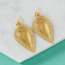 gold drop earrings teardrop gold drop earrings in a teacup jewellery