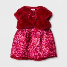baby sweater and satin dress set cat velvet