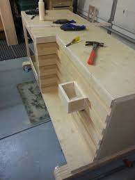 Woodworking Bench Top Thickness by Workbench Outfeed Table 1 5 Workbench Outfeed Continued