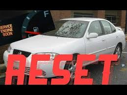 service engine soon light nissan sentra how to reset service engine soon light on a 2004 nissan sentra