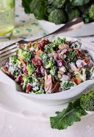 bacon sunflower seeds broccoli salad with bacon dried cranberries sunflower seeds