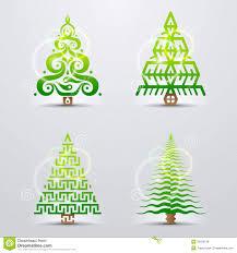stylized symbols of christmas tree royalty free stock image