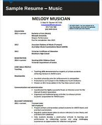 Sample Resume For Musician by Sample Music Resume 7 Examples In Word Pdf