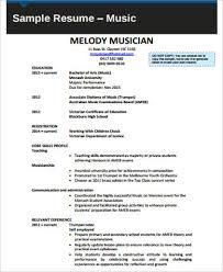 Monash Resume Sample sample music resume 7 examples in word pdf