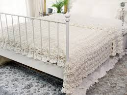 sale linen antique white luxurious vintage look bed cover