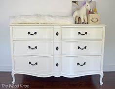 Changing Table Cost White And Gold Provincial Dresser Nightstands Changing