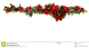 poinsettia and christmas decoration side border royalty free stock