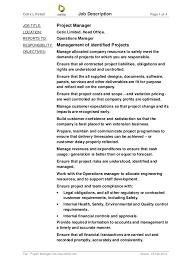 Restaurant Owner Job Description For Resume Operation Manager Job Description Restaurant Operation Manager