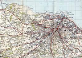 Edinburgh Map Ordnance Survey Extract From U0027popular Edition U0027 One Inch Map