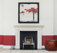 combining contemporary interior design with antique fireplaces