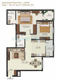 2bhk floor plan 2 bhk 975 sq ft apartment for sale in mantri alpyne at rs 4960 0