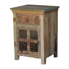 Rustic End Tables Wooden Windows Reclaimed Wood Nightstand End Table Cabinet