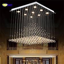 High Ceiling Light Fixtures Fumat K9 Chandelier Modern Lustre Hotel Led Light