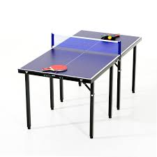portable table tennis table amazon com aosom 5 folding indoor outdoor table tennis table set
