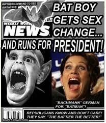 Michele Bachmann Meme - fascart michele bachmann was bat boy