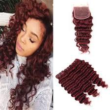indian human hair weave au burgundy curly hair closure australia new featured burgundy
