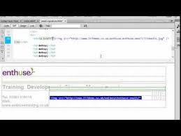 design html email signature dreamweaver email signature coding youtube