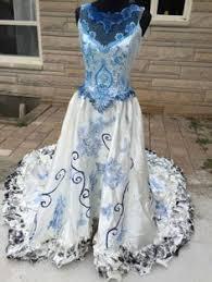 Halloween Costume Wedding Dress Corpse Bride Emily Halloween Costume Wedding Dress Veil Ooak