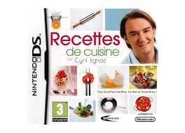 jeux de recette de cuisine jeux vidéo recettes de cuisine avec cyril lignac ds d occasion